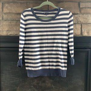 Gap striped cuffed sweater